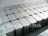 Wholesale x59x21 mm plain tin box sealing box metal silver rectangle tin box
