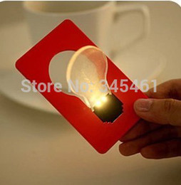 Wholesale Card Cute Design - Wholesale-Portable LED Card design Cute Mini Night Decoration Light Wireless LED lamps for Christmas gift put in Purse Pocket Wallet