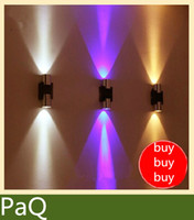 Cheap Wholesale-LED corridor lights material of Aluminum 6W power Decorate TV WALL background light fixture wall lamp