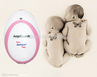 Wholesale HOT selling So Mini CE FDA Angelsounds Fetal Doppler Pocket ultrasound fetal heart monitor with earphone and USB cable