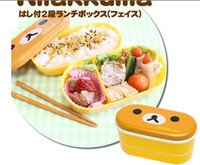 bamboo bento box - colors Relax Bear heat preservation lunch box Rilakkuma Bento Box cm with Chopsticks additonal chopstick free gift