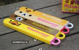 Wholesale Rilakkuma Super cute and easy Bear Environmentally friendly and convenient tableware Packed chopsticks