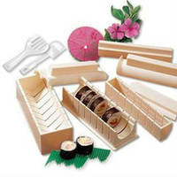 bamboo tool box - sushi mold soshi maker set tools DIY cutter hot sale high quality with retail box