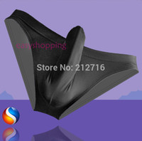 cozy - Men s Sexy Cozy Ice silky Bikini with Penis Sleeve Comfortable Men Underwear Cozy Stockings M L XL