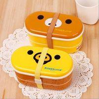 bento box - Relax Bear heat preservation lunch box Rilakkuma Bento with Chopsticks