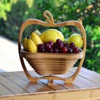 bamboo basket - Special Offer Sale Ciq Plates Dishes Novelty Item Fruit Plate Folding Bamboo Home Storage Basket