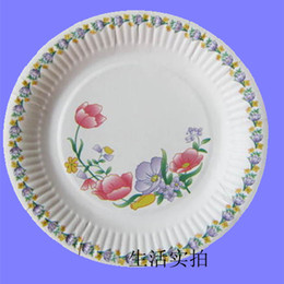 wholesale decorative pattern 7 disposable white paper plate paper plates cake pan 100piece - Decorative Paper Plates