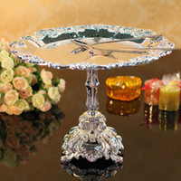 Wholesale European senior silver plated metal fruit bowl cake stands W32cm H23cm