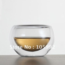 Wholesale Non porous Double layer Cup Insulated glass Teacup Cups Piece