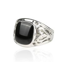 Anillo al por mayor de alta calidad de la manera de los hombres 925 opciones de plata esterlina 4 esmalte de color anillo de la vendimia de los hombres