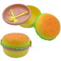 bento box cooking - layers Round hamburger boxes lunch box tableware bowl bowls container containers cooking tools talheres bento box salad bowl