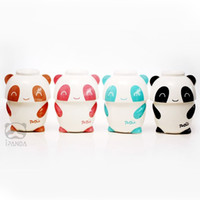 Wholesale Lovely Panda Mug and Bowl Set Cartoon Ceramic Instant Noodles Bowl Valentines Gift SH778