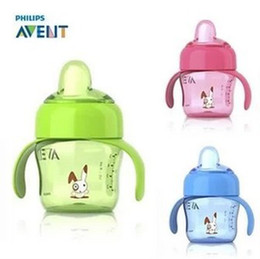 Wholesale Discount AVENT Magic Cup Nature Baby Drinking Bottle oz ml Feeding Bottles Duckbill Soft Spout With Handle avent bottles