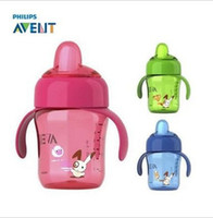 avent cup handles - Brand Mamadeira AVENT Magic Cup oz ml Duckbill AVENT Spout Cup With Handle Baby Milk Water Bottle baby feeding bottles