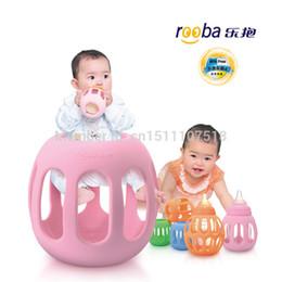 Tamanho M-atacado 100% Original Rooba bebê bebês biberão titular capa protetora Case para frascos de boca larga frete grátis