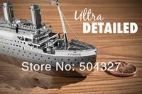 Wholesale Piece Metal Works DIY D Laser Models Assemble Miniature Metal D Model Titanic
