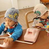 baby blue headphones - New Spring Baby Boy Girl Kid Infant Sanded Cotton Headset Print Cap Beanie Headphones Children Hats Kid S Accessories BB