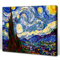 Wholesale Frameless Diy digital oil painting cm cloudy sky painting by numbers kits unique gift home decor