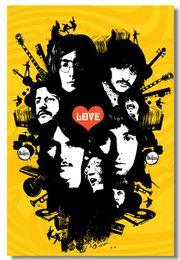 Wholesale The Beatles Silk Wall Poster x24 x12 inch Big Room Pop Music Box Art Prints Mural Beatle Paul John Lennon