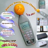 Wholesale TES EMF Test Meter TES RF Tester TES593 Electrosmog RF Meter Electrosmog RF Microwave Meter
