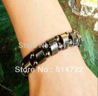 magnetic hematite beads - Fashion Black Magnetic Hematite Therapy Arthritis Beads Bracelet for men women new