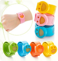 Cheap Wholesale-Natural Children insect citronella mosquito repellent baby anti-mosquito silicone ring Wristband Wrist watch bracelet