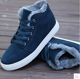 Wholesale new men shoes sneakers casual winter high warm cotton padded ankle boots uk style snow boots Skateboard shoes a105