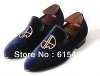 made in china shoes - embroidered velvet shoes for men slip on mens loafers boat shoes made in China