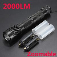 al por mayor ampliar al por mayor llevó la linterna-Al por mayor-Envío Gratis E9 Zoom Linterna Linterna Linterna de LED de 500 metros de Distancia del CREE XM-L T6 de 2000 Lúmenes 5 Modos de Alta Potencia