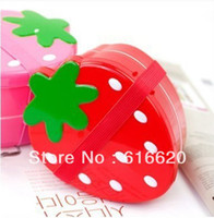 Wholesale Strawberry Shape Bento Snack Lunch Container Case Boxes