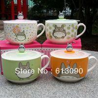 Wholesale Totoro totoro ceramic instant noodles bowl convenient bowl sealing lid bowl spoon
