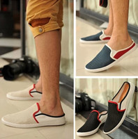 Cheap Wholesale-2015 new summer men shoes british style pedal lounged shoes breathable sneakers sandasl & slippers free shipping