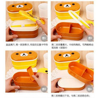 beautiful lunch boxes - x Relax Bear Lovely Beautiful lunch box Rilakkuma Bento Box with Chopsticks amp belt Yellow brown