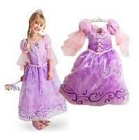 Wholesale Children Kids Cosplay Dresses Rapunzel Costume Princess Wear Perform Clothes frozen HOT Sale