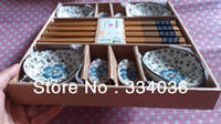 bamboo sushi plate - Chinese style sushi bamboo chopsticks plate gift box dinnerware set set tableware oblate shape DS