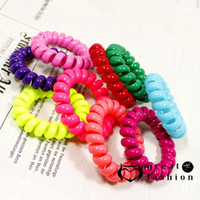 Gros-10 pcs couleur mélangée rubans rouleau mode anneau de cheveux bricolage corde haute qualité bigoudi Outils de cheveux Livraison gratuite