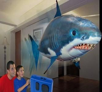 Wholesale hot selling remote control air flying shark fish for Swimming fish cat toy