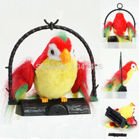 Wholesale kids electronic toys plush talking parrot can repeat what you say while flapping his wings and moving his mouth pet bird toy