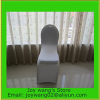 Wholesale Fast Delivery lycra chair cover white banquet chair covers for weddings