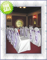Wholesale Beatuifully white polyester wedding chair cover Wedding decorations decorative coverings colorful coverings for different Chair