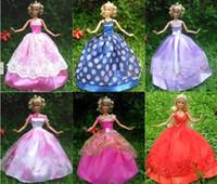 barbie doll clothes - items Dress Shoes Hangers Handmade Gown Dress Clothing For Barbie Doll