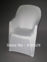 Cheap Wholesale-white Spandex chair covers  Free Shipping  plastic beach chair chair Arm chair cover