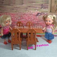 doll furniture - new arrival cute girl gift toys furniture for mini doll table and chair for mini barbie kelly doll mini furniture