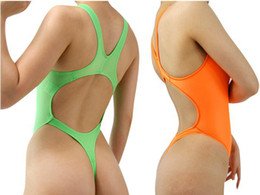 Wholesale New Sexy Hot Thong One Piece Swimwear Backless High Cut Swimsuit Womens Thong Bathing Suits Leotard Body Suit