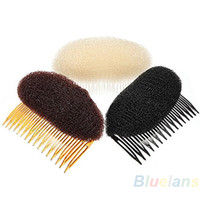 beehive hair - Hair Styler Volume Bouffant Beehive Shaper Roller Bumpits Bump Foam On Clear Comb Xmas Accessories E9