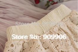 Polainas de la falda caliente en venta-Caliente polainas de las mujeres de la moda al por mayor-Verano Vestimenta cordón de cortocircuitos de la seguridad bajo la falda linda nueva