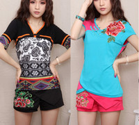 Wholesale On sale Summer national trend women s shorts embroidered chinese style short