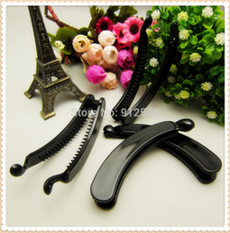 Wholesale AL72970 MM mm Black plastic banana clip Hairpin Vertical clip Handmade hair accessories diy accessories materials
