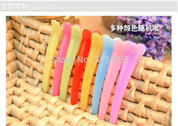 Wholesale samll jelly color hair pin pointed mouth go dedicated partition clip to clip a word abc act the role ofing tasted cm