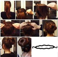 Precio de Estilos de trenzar el pelo de la muchacha-Nueva herramienta de la trenza al por mayor de moda-Negro mágico del pelo de la torcedura que labra el clip del palillo del fabricante del bollo para las niñas Mujeres